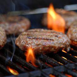 gegrilde hamburgers