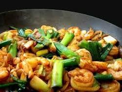 garnalen wok met groentes